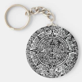 Mayan Calendar Black Keychain