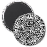 Mayan Calendar Black Magnets