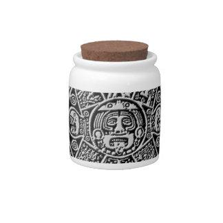 Mayan Calendar Candy Jar