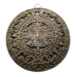 Mayan Calendar Dartboard With Darts