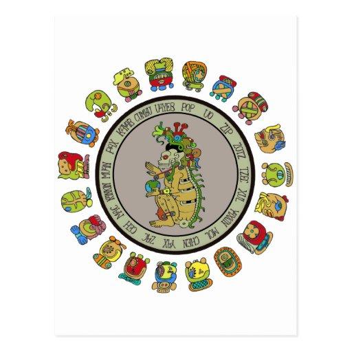 Mayan-calendar Death God Postcard