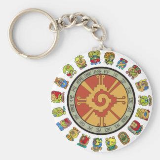 Mayan Calendar Design Basic Round Button Keychain
