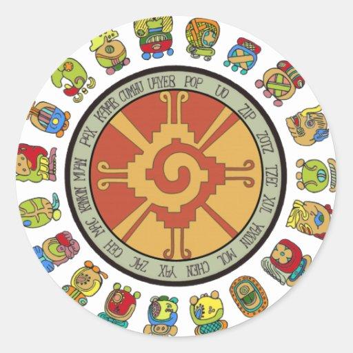 Mayan Calendar Kids : Mayan calendar design classic round sticker zazzle