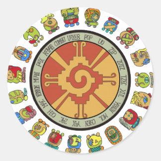 Mayan Calendar Design Stickers