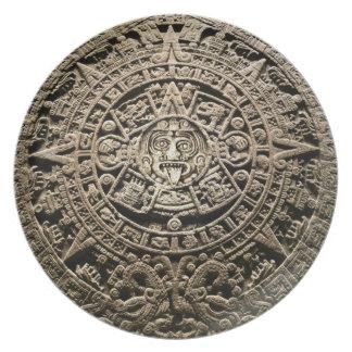 Mayan Calendar Dinner Plate