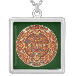 Mayan Calendar, ending in 2012 Square Pendant Necklace