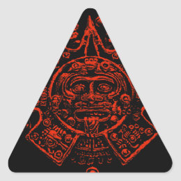 Mayan Calendar Image design Triangle Sticker