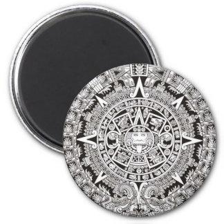 Mayan Calendar Magnet Black and White