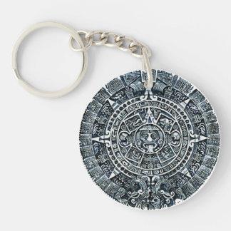 Mayan Calendar/Maya calendar Double-Sided Round Acrylic Keychain