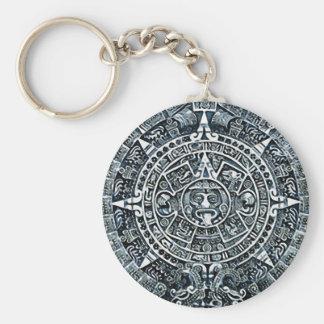 Mayan Calendar / Maya Kalender Basic Round Button Keychain