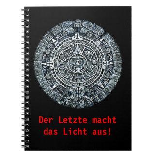 Mayan Calendar / Maya Kalender Spiral Notebook