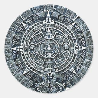 Mayan Calendar / Maya Kalender Round Sticker