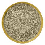 mayan calendar melamine plate