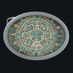 "Mayan Calendar Oval Belt Buckle<br><div class=""desc"">More items with this design at:  www.zazzle.com/aura2000/mayancalendar</div>"