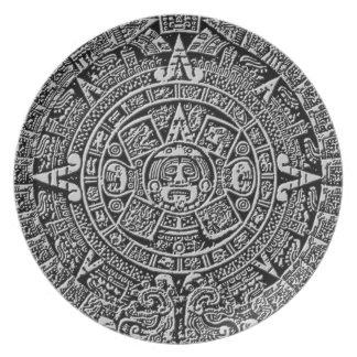 Mayan Calendar Dinner Plates