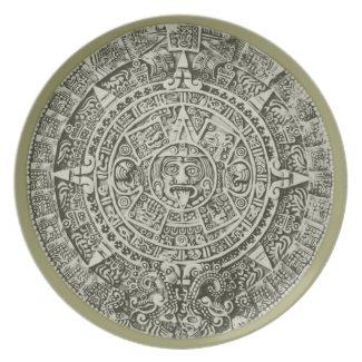 mayan calendar plates