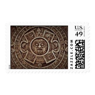 Mayan Calendar Postage Stamp