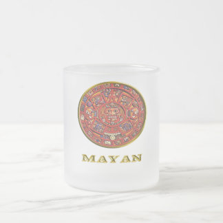 Mayan Calendar products Frosted Glass Coffee Mug