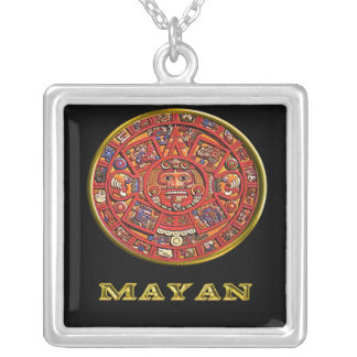 Mayan Calendar products Silver Plated Necklace