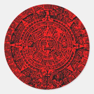 Mayan Calendar Red Sticker