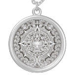 Mayan Calendar Round Charm Necklace