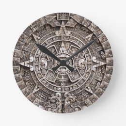 Ancient Mayan Wall Clocks Zazzle