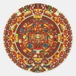 mayan calendar round sticker