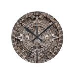 Mayan Calendar Round Wallclocks