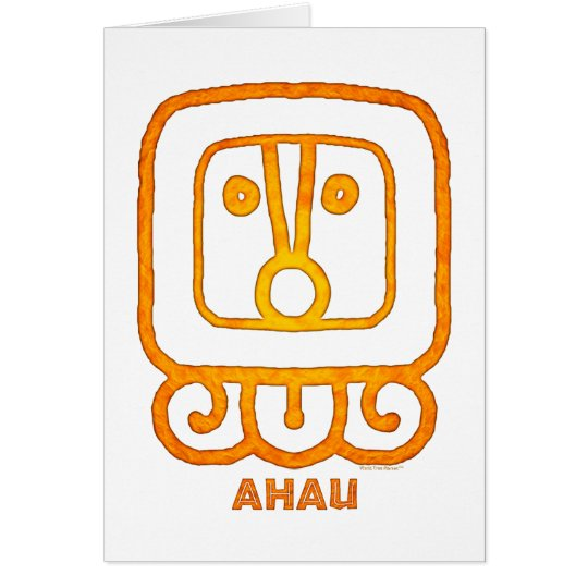 Mayan Calendar Sign AHAU Card