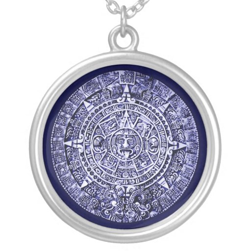 Zazzle mayan calendar Silver Plated Necklace
