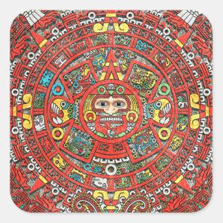 Mayan Calendar Square Sticker