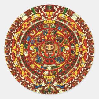 mayan calendar classic round sticker