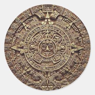 Mayan Calendar Stone 12.21.2012 Round Stickers