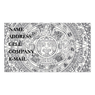 'Mayan Calendar Stone' Business Card
