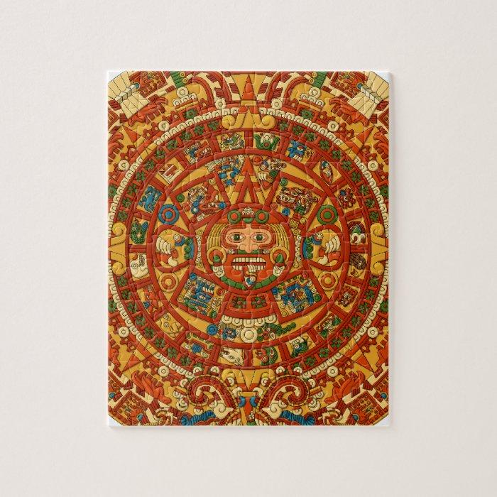 'Mayan Calendar Stone' Jigsaw Puzzle