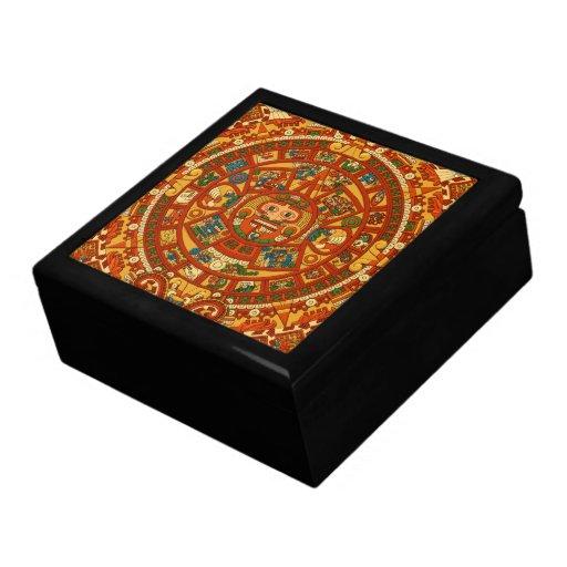 'Mayan Calendar Stone' Keepsake Box