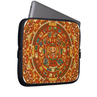 'Mayan Calendar Stone' Laptop Sleeve