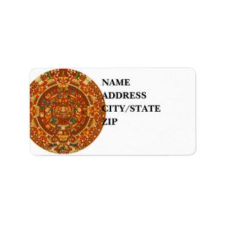 'Mayan Calendar Stone' Personalized Address Labels