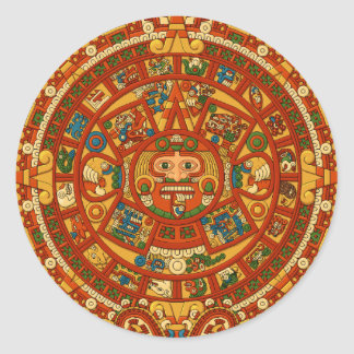 'Mayan Calendar Stone' Round Sticker