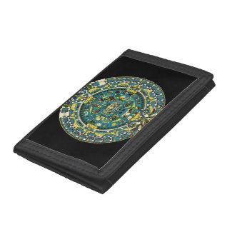 mayan calendar tri-fold wallet