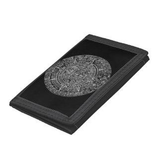 mayan calendar tri-fold wallets