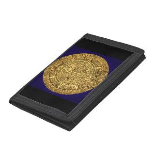 mayan calendar trifold wallet