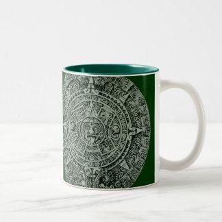 mayan calendar Two-Tone coffee mug