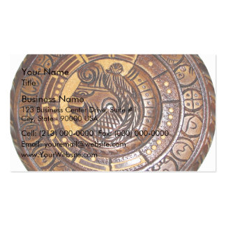 Mayan Calendar with a hole in center Business Card