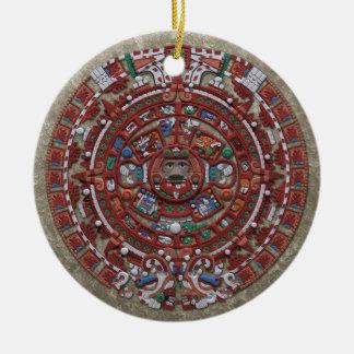 Mayan Calender Ceramic Ornament