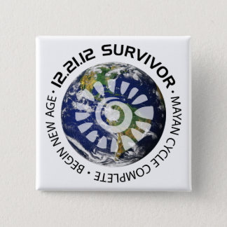 Mayan Calender End of the World 2012 Button