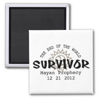 Mayan Calender End of the World 2012 2 Inch Square Magnet