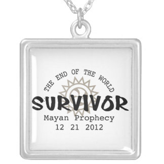 Mayan Calender End of the World 2012 Square Pendant Necklace