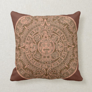 Mayan Calender Throw Pillow