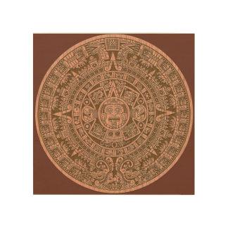 Mayan Calender Wood Print